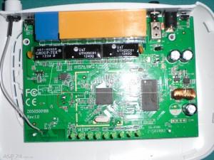 Рис. 2. Схема маршрутизатора с отделлённой антеной и вынятой платой из корпуса