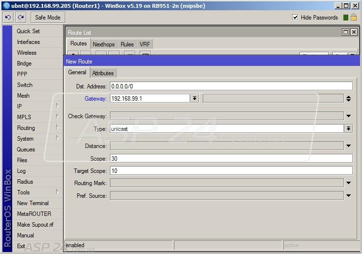 Работа с маршрутами в MikroTik Router OS и других системах