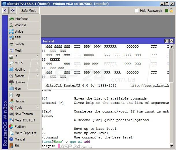 Примеры использования Mikrotik API на Python :: Настройка