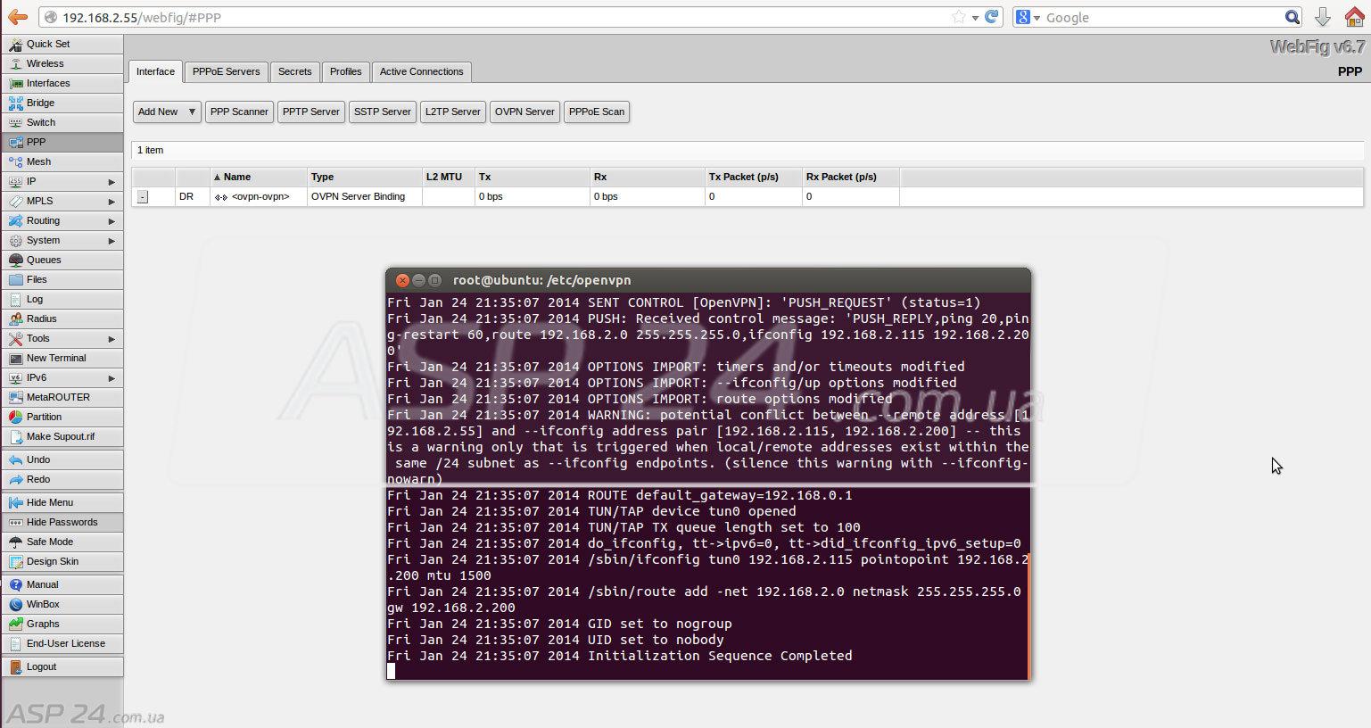Asp linux vpn настройка сервера как сделать красную строку на сайте