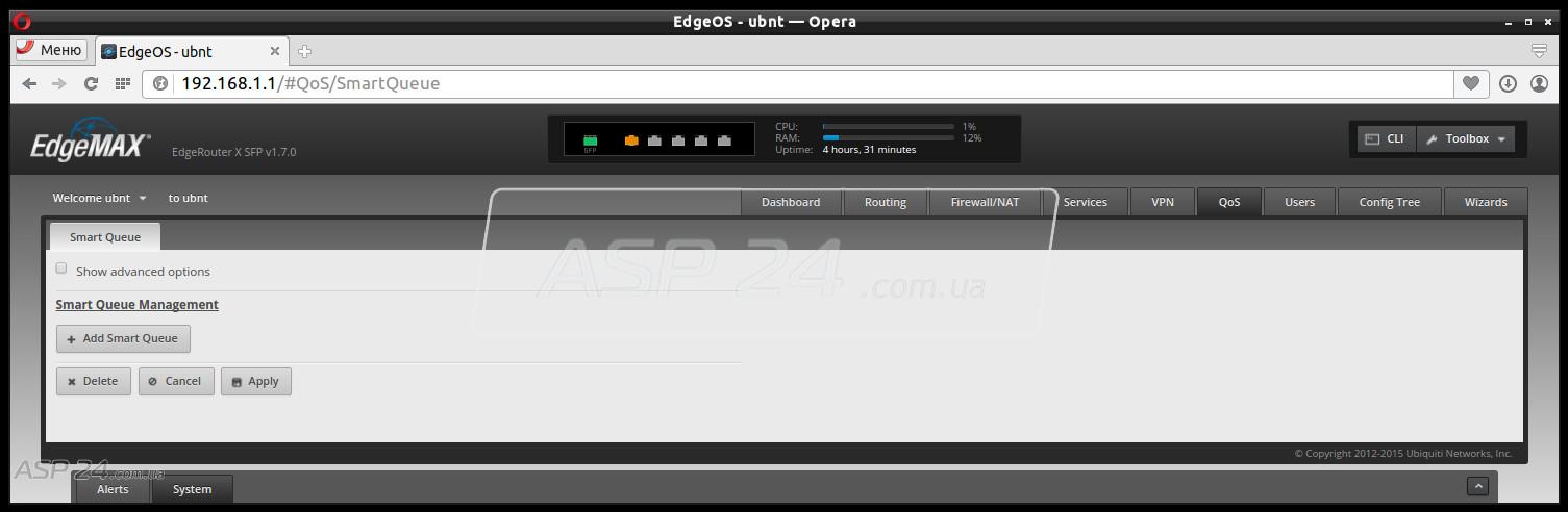 Обзор Ubiquiti EdgeRouter X SFP :: Настройка оборудования Ubiquiti