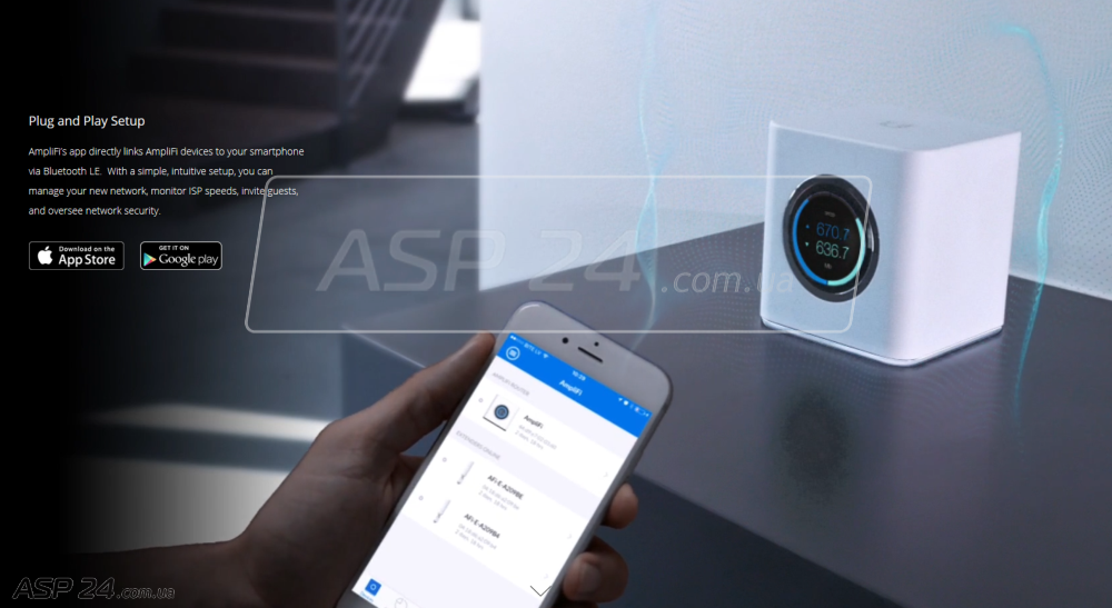 Смартфон на базе Android либо iOS для настройки AmpliFi