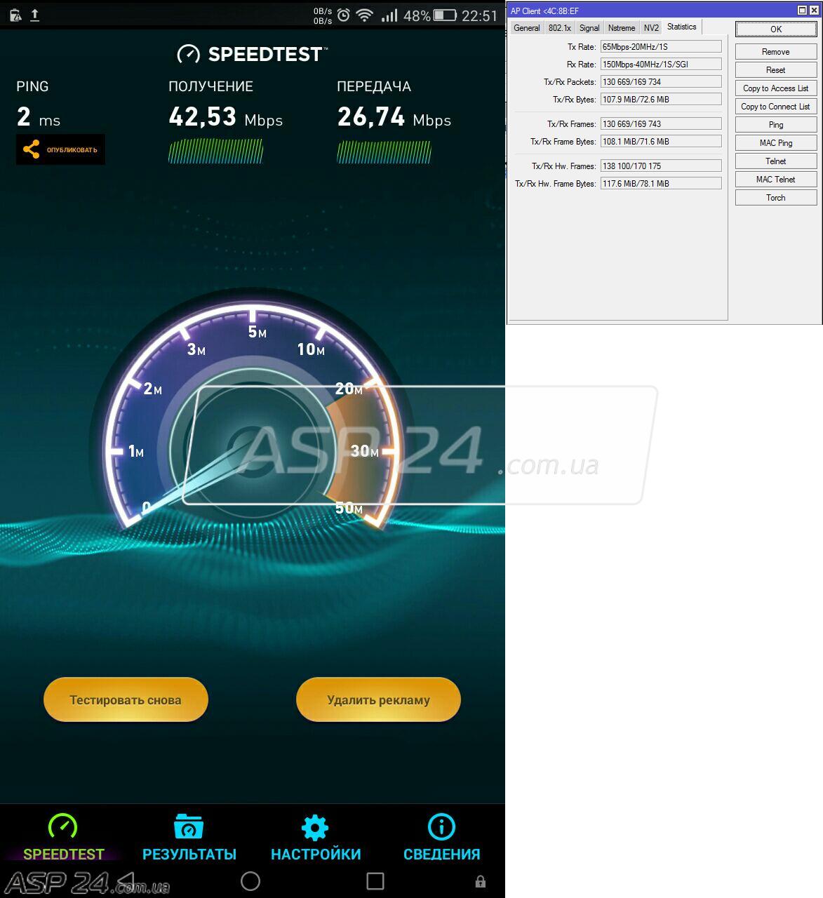 Рис. 3. Тест Wi-Fi.