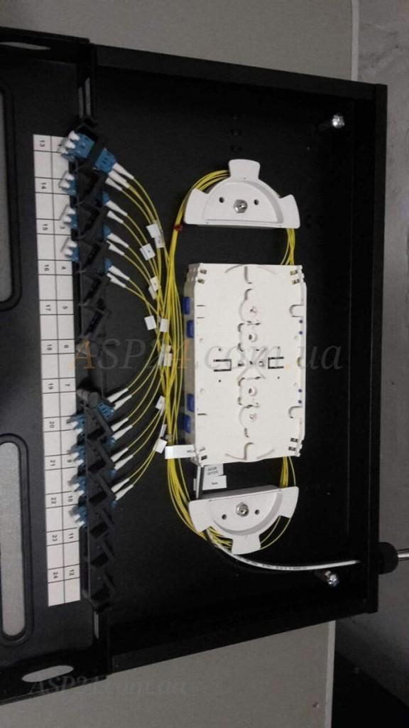 Спочатку запуск 12-волоконної мережі від одного блоку до POP