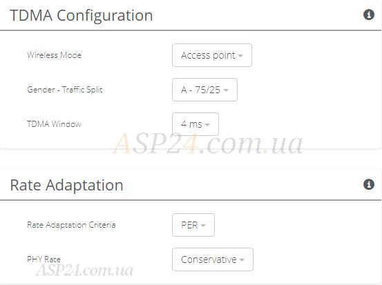 TDMA Configuration vs Rate Adaptation