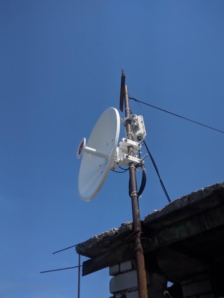 После монтажа РТР 550 и антенны