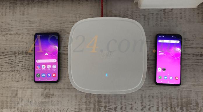 Cisco Cat 9115 WiFi 6 APs та Samsung S10e's WiFi 6