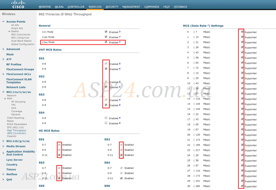 Cisco WLC 3504 on Cisco AireOS 8.9 code, 802.11ax configuration pt 1