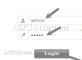 Введення логіну та паролю при налаштуванні