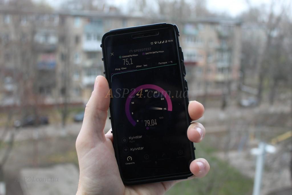 Netis N1 локация балкон 75Мбит/79Мбит, пинг 10