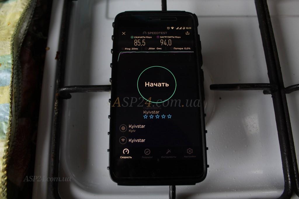 Netis N1 локация кухня 85Мбит/94Мбит, пинг 20