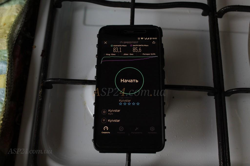 Edimax BR-6478AC V3 локация кухня 83Мбит/85Мбит, пинг 10