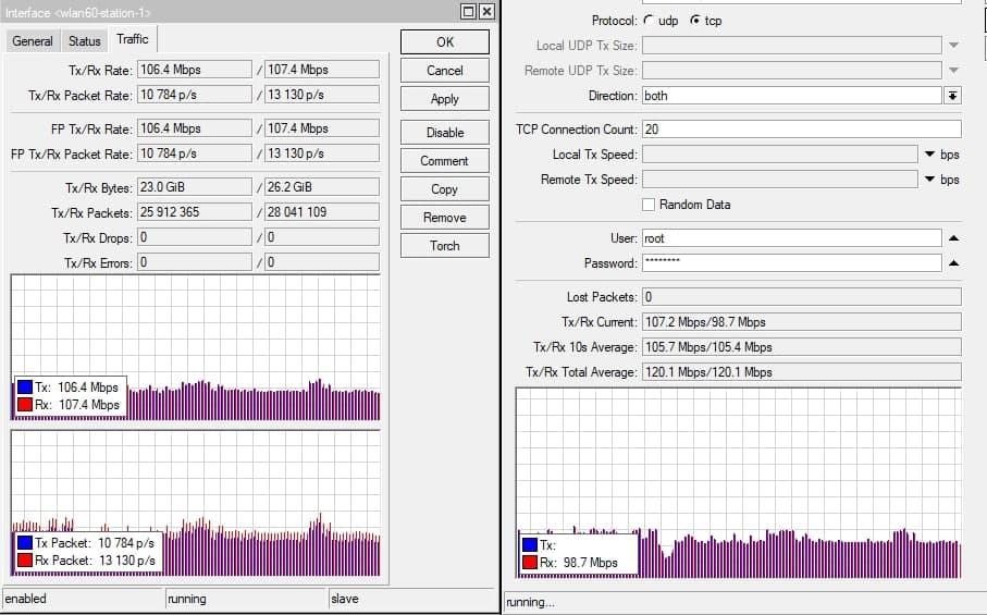 Работа MikroTik Wireless Wire Dish в реальных условиях